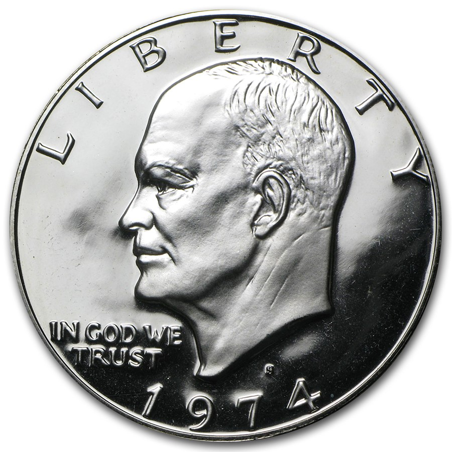 1974-S 40% Silver Eisenhower Dollar Gem Proof