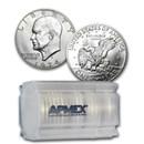 1974-S 40% Silver Eisenhower Dollars 20-Coin Roll BU
