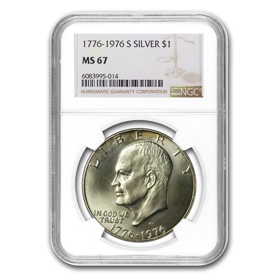 1974-S Eisenhower Silver Dollar MS-67 NGC