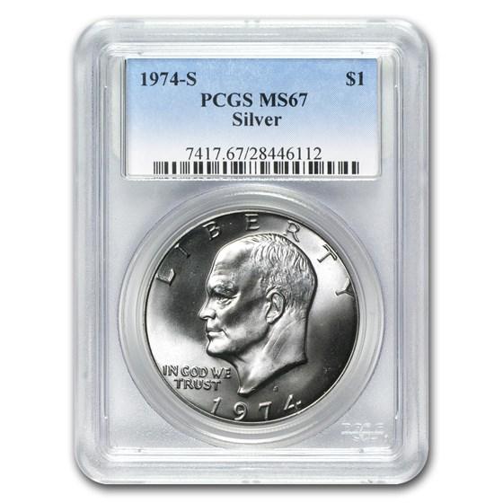 1974-S Silver Eisenhower Dollar MS-67 PCGS
