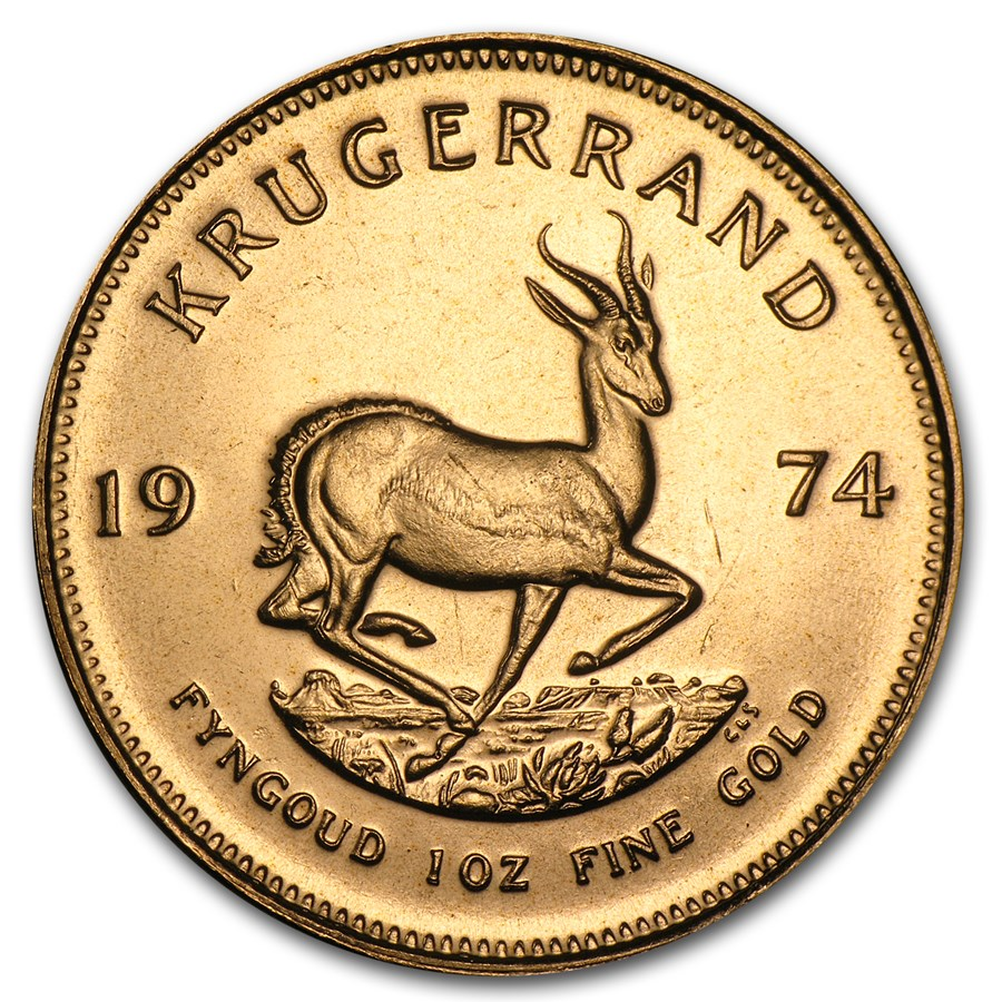 1974 South Africa 1 oz Gold Krugerrand BU
