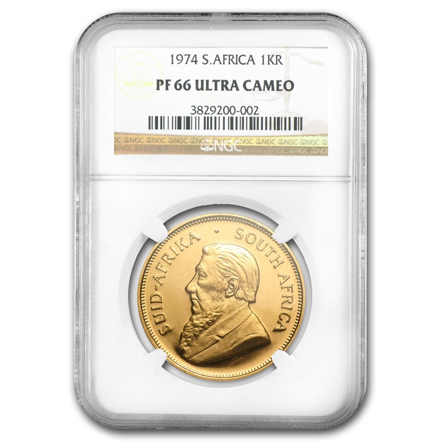 1974 South Africa 1 oz Gold Krugerrand PF-66 NGC
