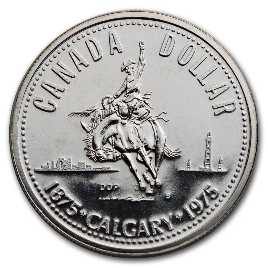 1975 Canada Silver Dollar Specimen (Calgary Centennial w/OGP)