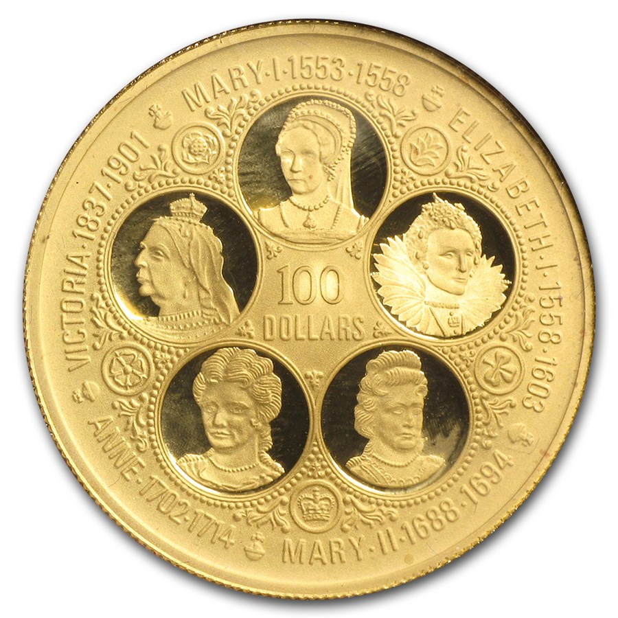 1975 Cayman Islands Proof Gold 100 Dollars