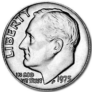1975 Roosevelt Dime BU