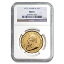 1975 South Africa 1 oz Gold Krugerrand MS-65 NGC