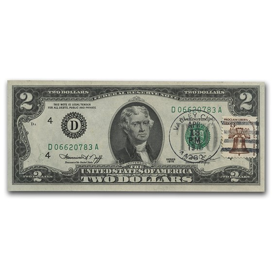 1976 $2 FRN w/Cancelled Stamp CU (Various Dates)