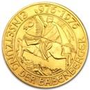 1976 Austria Gold 1000 Schillings BU