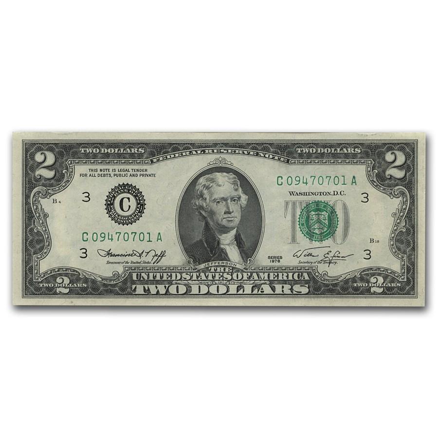 1976 (C-Philadelphia) $2.00 FRN CU