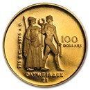 1976 Canada 1/2 oz Proof Gold $100 Olympic