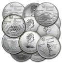 1976 Canada Silver $5 Olympics BU/Proof (ASW .7227 oz)