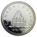 1976 Canada Silver Dollar Specimen (Parliament Library)