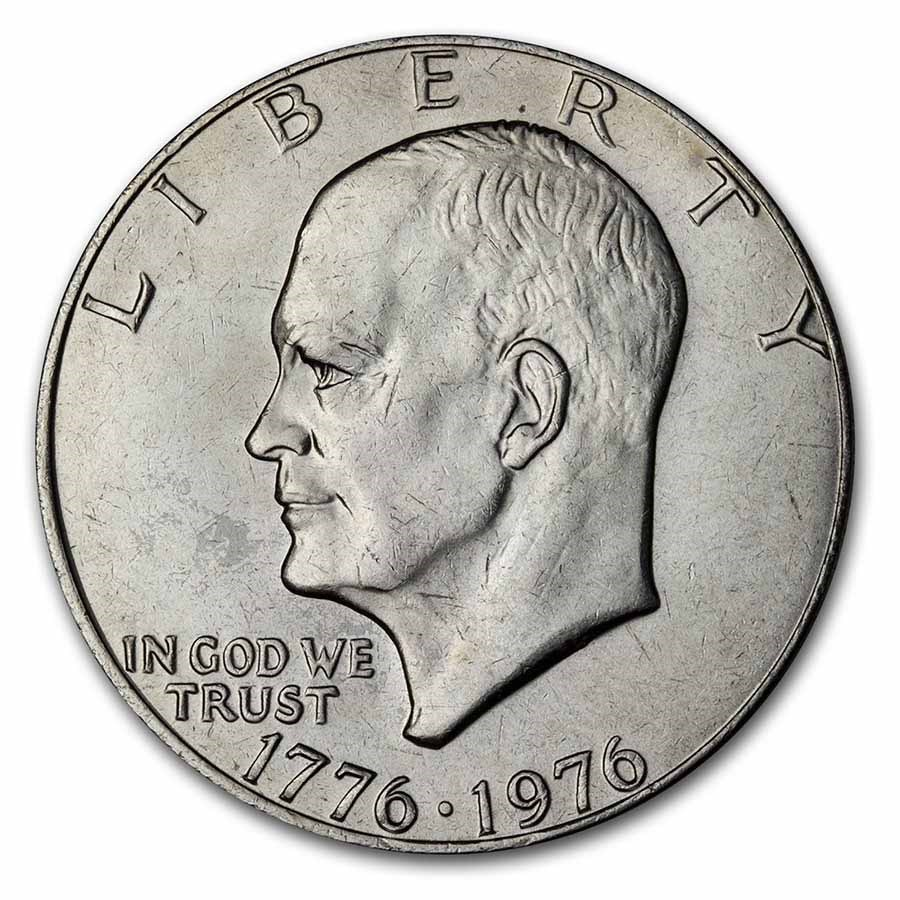 1976 Clad Eisenhower Dollar BU (Type-1)