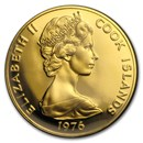 1976 Cook Islands Proof Gold $100 US Bicentennial