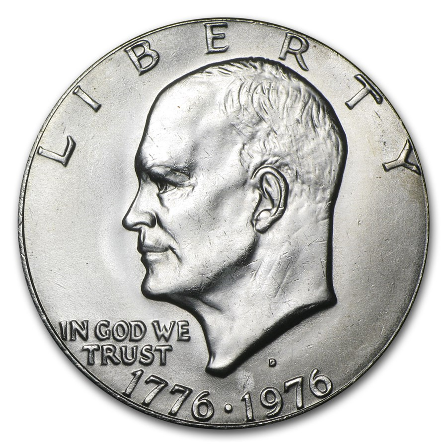 1976-D Clad Eisenhower Dollar BU (Type-1)