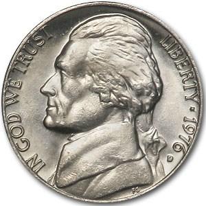 1976-D Jefferson Nickel BU
