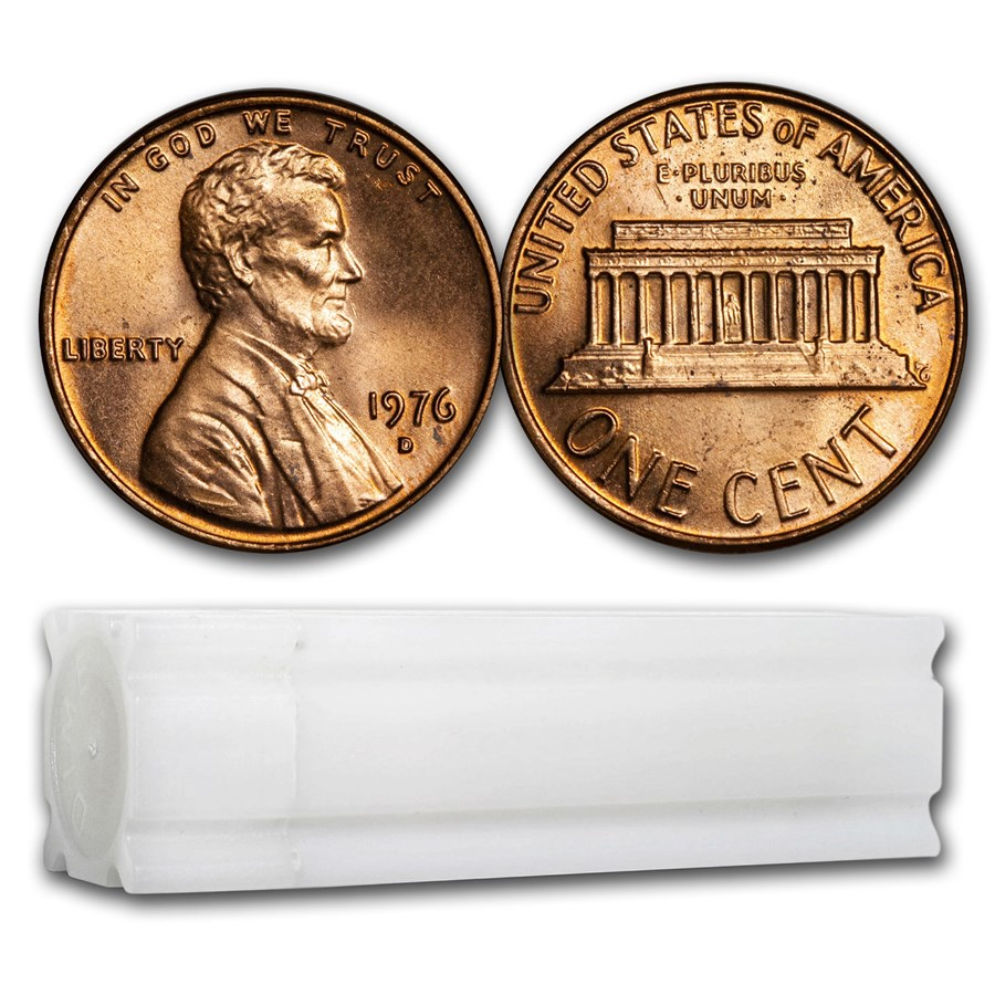 1976-D Lincoln Cent 50-Coin Roll BU