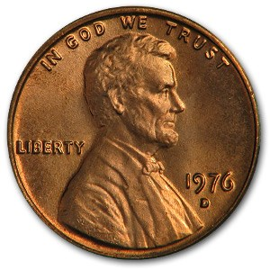 1976-D Lincoln Cent BU (Red)