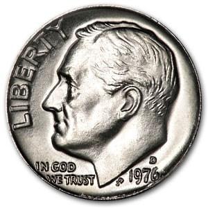 1976-D Roosevelt Dime BU