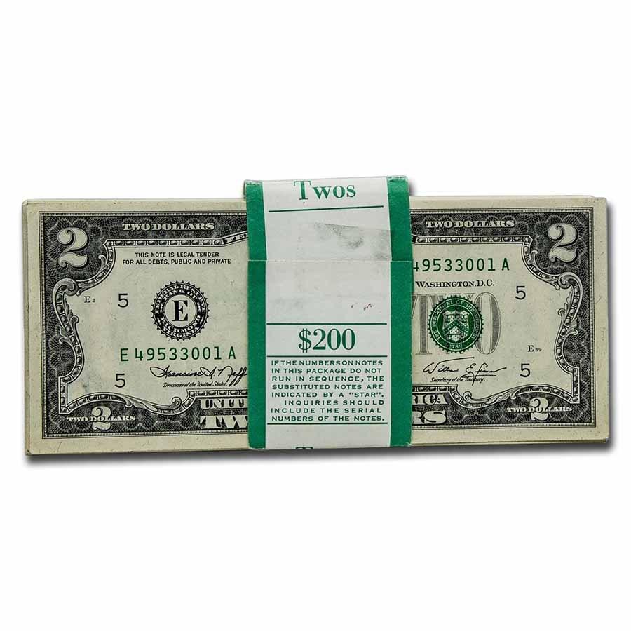 1976 (E-Richmond) $2.00 FRN CU (Fr#1935-E)100 Consecutive