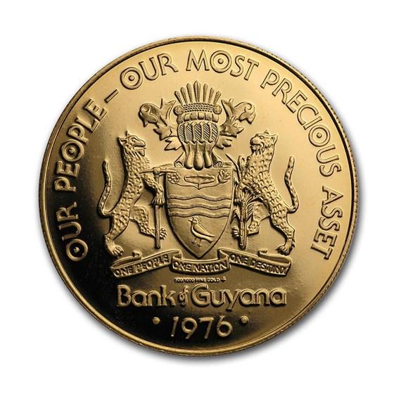 1976 Guyana Gold $100 Proof