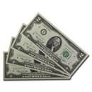 1976* (I-Minneapolis) $2.00 FRN CCU (4 Consecutive, Star Notes)