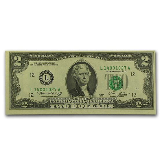 1976 (L-San Francisco) $2.00 FRN CU