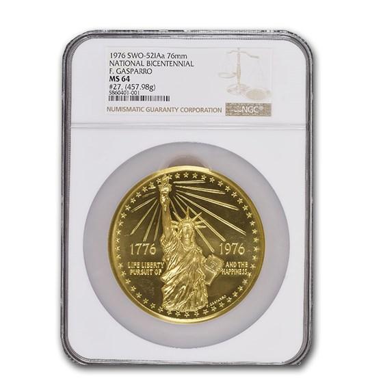 1976 National Bicentennial Gold Medal MS-64 NGC (SWO-521Aa)