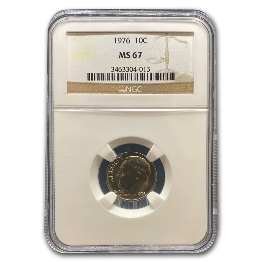 1976 Roosevelt Dime MS-67 NGC