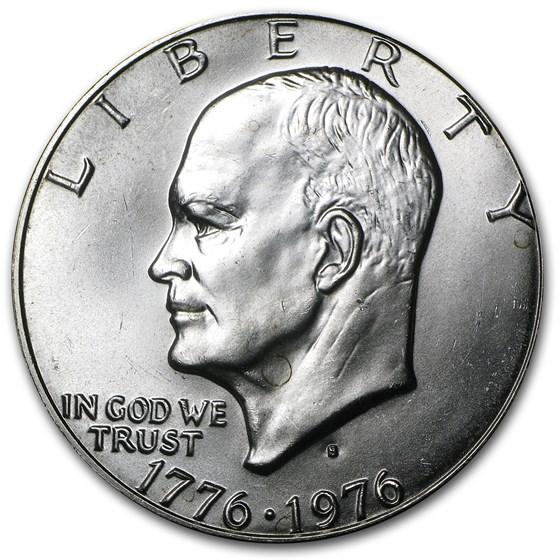 1976-S 40% Silver Eisenhower Dollar BU (Type 1)