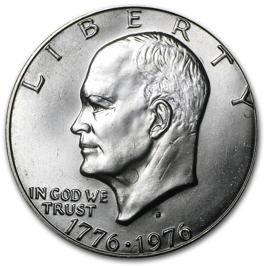 1976-S 40% Silver Eisenhower Dollar BU