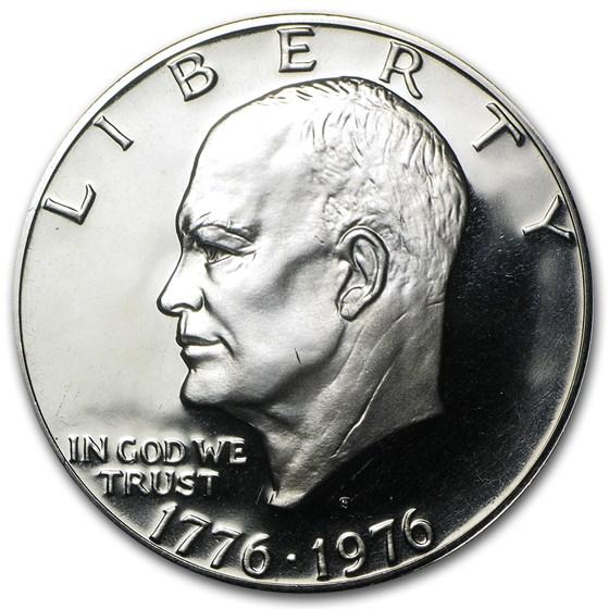 1976-S Clad Eisenhower Dollar Gem Proof (Type-2, Round Letters)