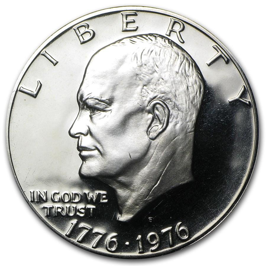 1976-S Clad Eisenhower Dollar Gem Proof (Type-2)