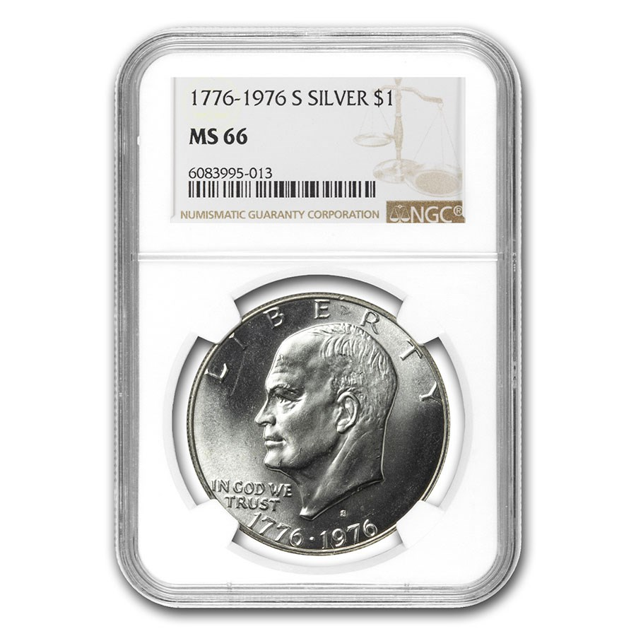 1976-S Eisenhower Silver Dollar MS-66 NGC