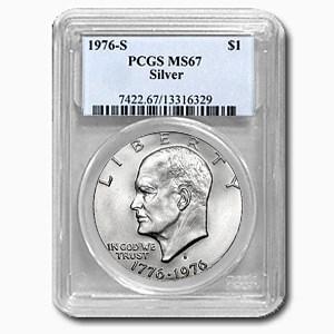 1976-S Silver Eisenhower Dollar MS-67 PCGS