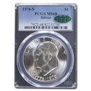 1976-S Silver Eisenhower Dollar MS-68 PCGS CAC