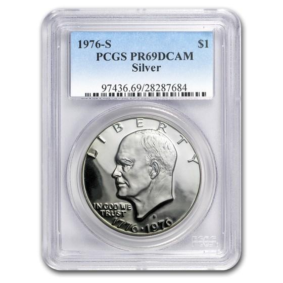 1976-S Silver Eisenhower Dollar PR-69 DCAM PCGS