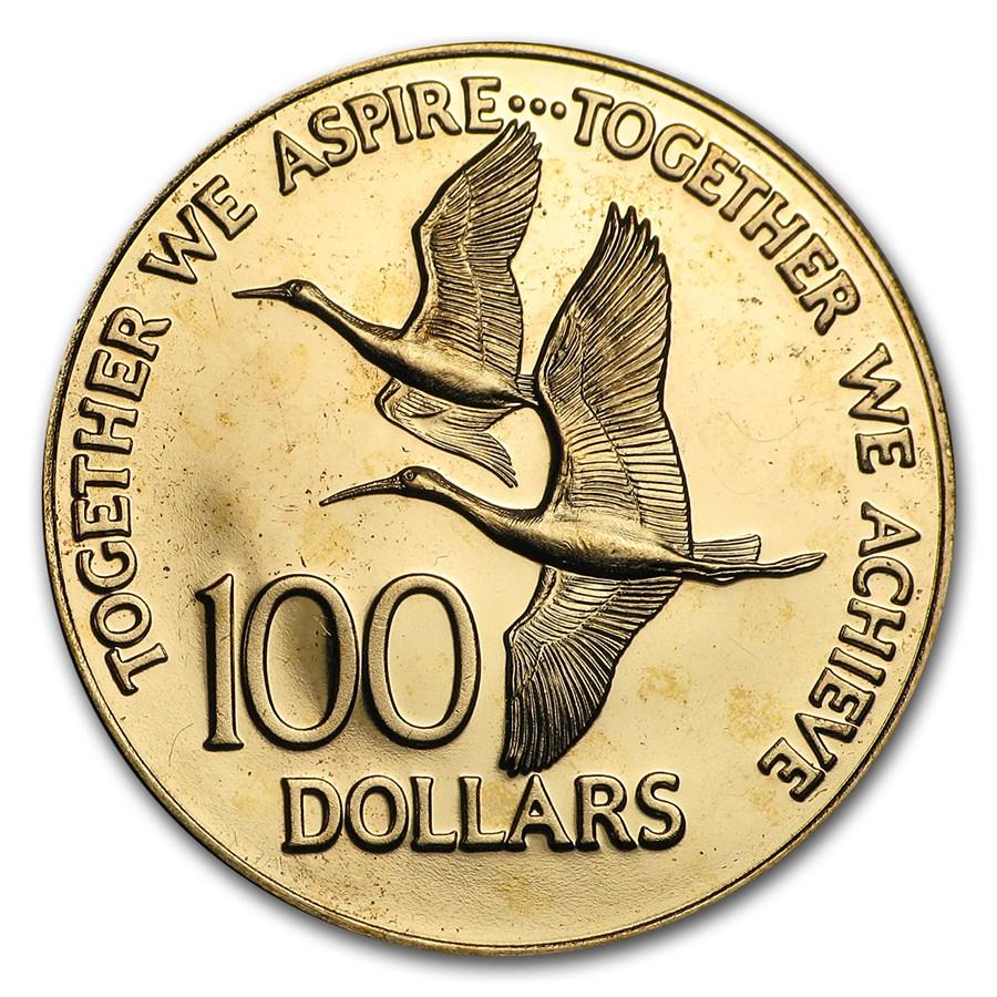 1976 Trinidad & Tobago Gold $100 Proof