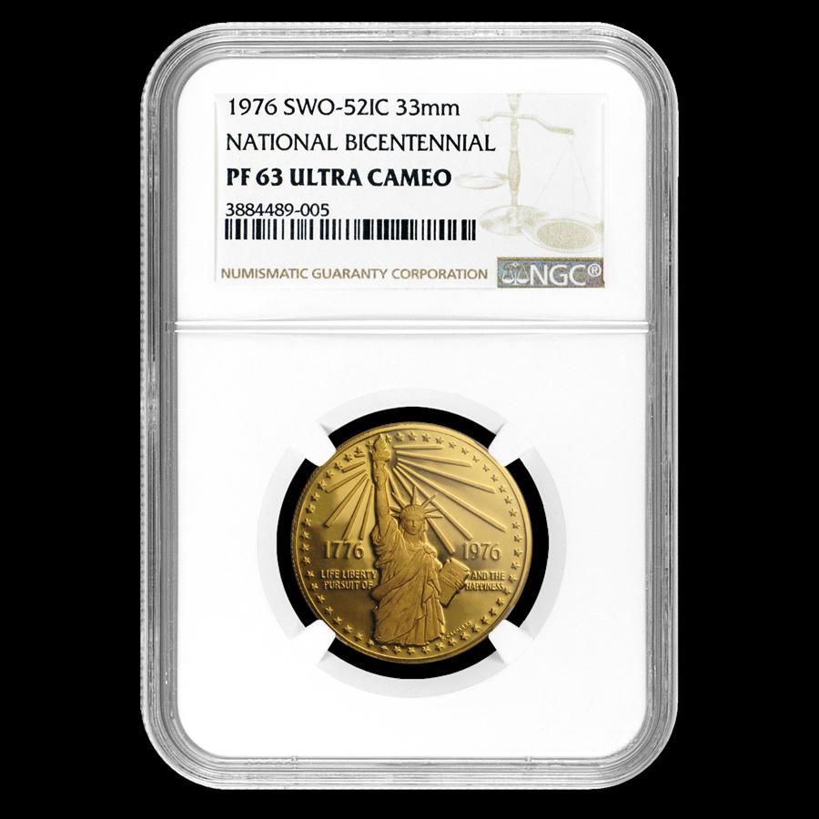 1976 U.S. Mint Bicentennial Gold Medal PF-63 NGC