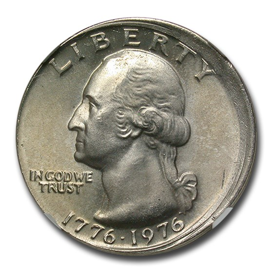 1976 Washington Quarter MS-66 NGC (Mint Error Broadstruck)