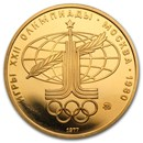 1977-1980 Russia Gold 100 Roubles Olympic (BU/Proof)
