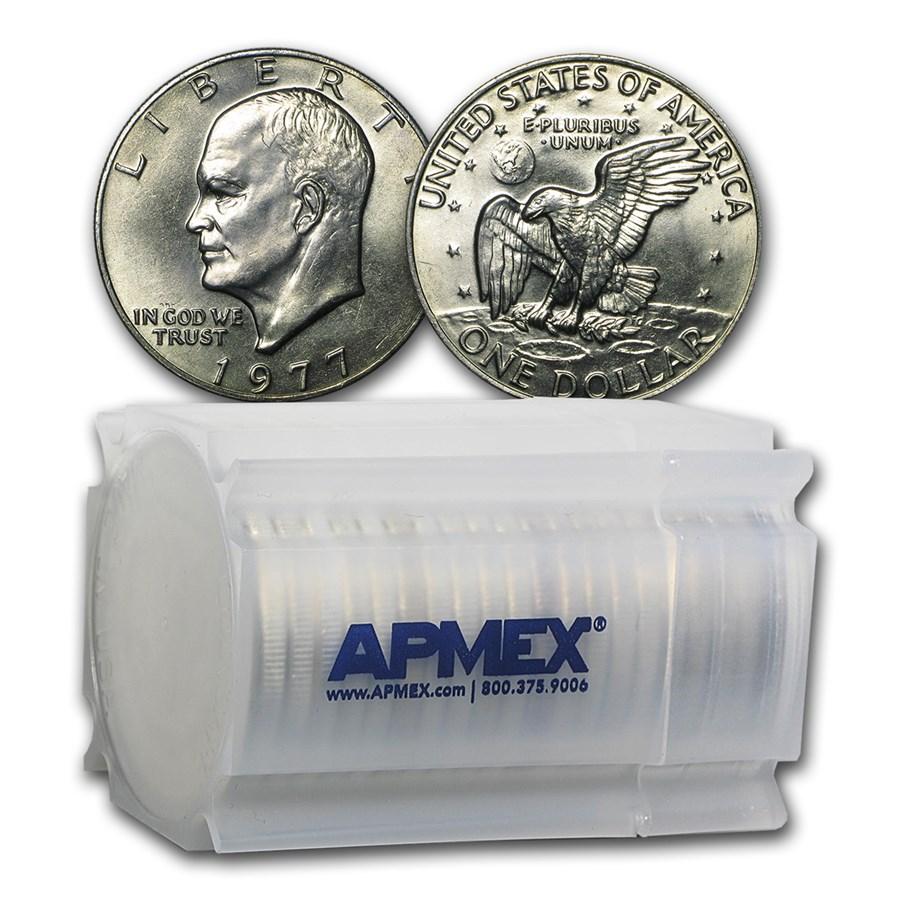 1977 Clad Eisenhower Dollar 20-Count Roll BU