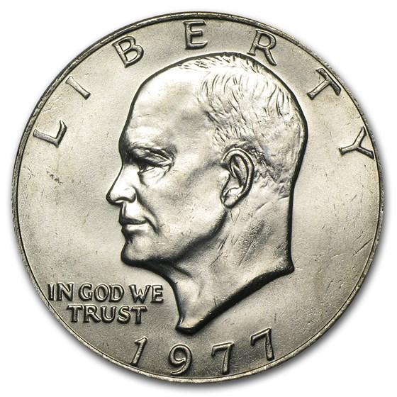 1977 Clad Eisenhower Dollar BU