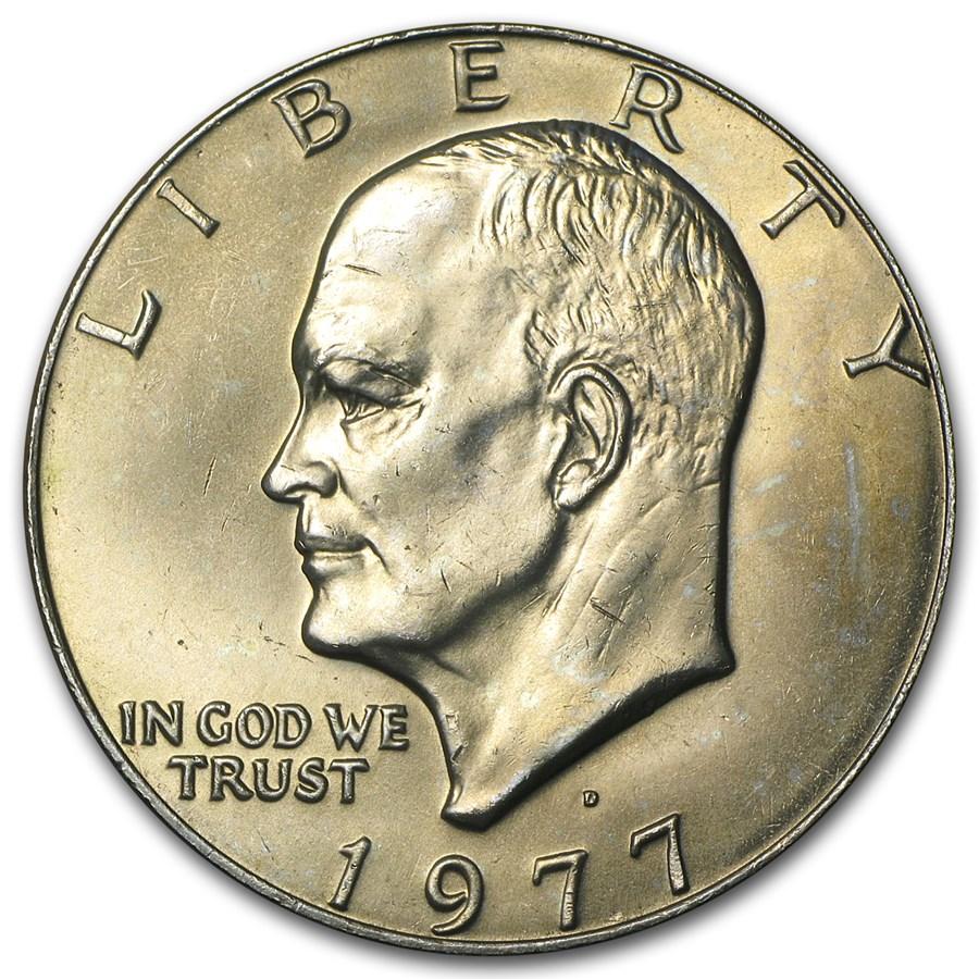 1977-D Clad Eisenhower Dollar BU