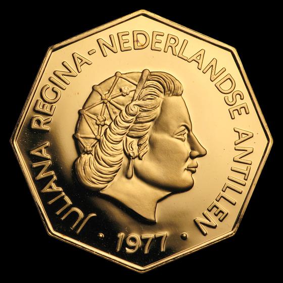 1977 Netherlands Antilles Gold 200 Gulden BU/Proof