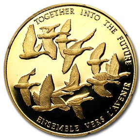 1978 Canada 1/2 oz Proof Gold $100 Canadian Unity