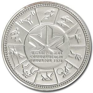 1978 Canada Silver Dollar Specimen (XI Commonwealth Games)