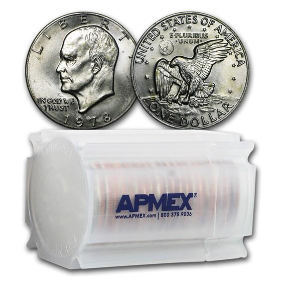 1978 Clad Eisenhower Dollars 20-Coin Roll BU