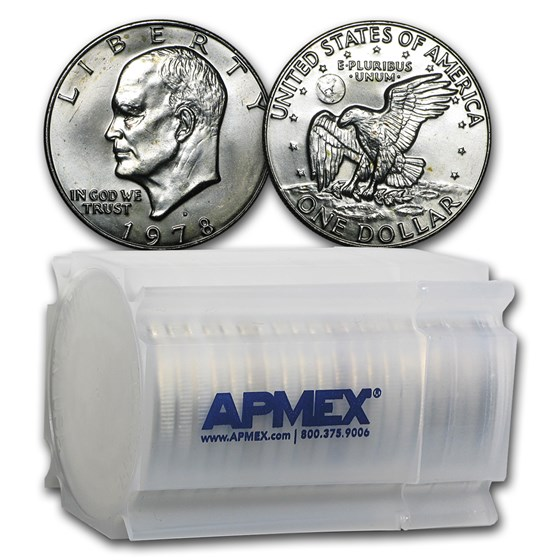 1978-D Eisenhower Dollars 20-Coin Roll BU