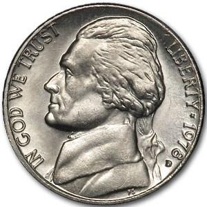 1978-D Jefferson Nickel BU